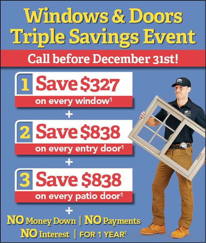 replacement window sale december 2018